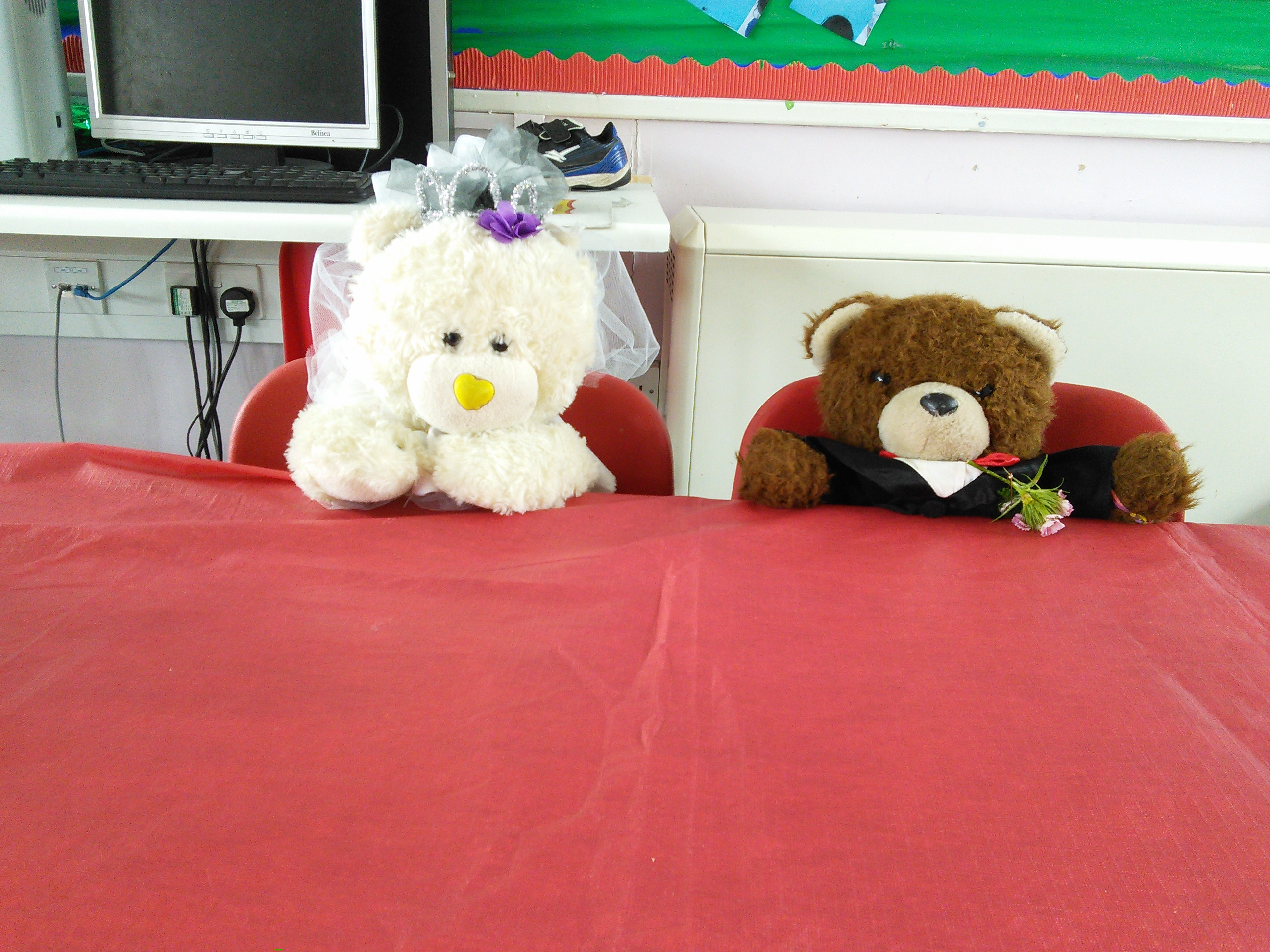 Teaching KS1 (Infant) children about marriage. We think marriage is so good that we would love to celebrate it with bears of any kind.