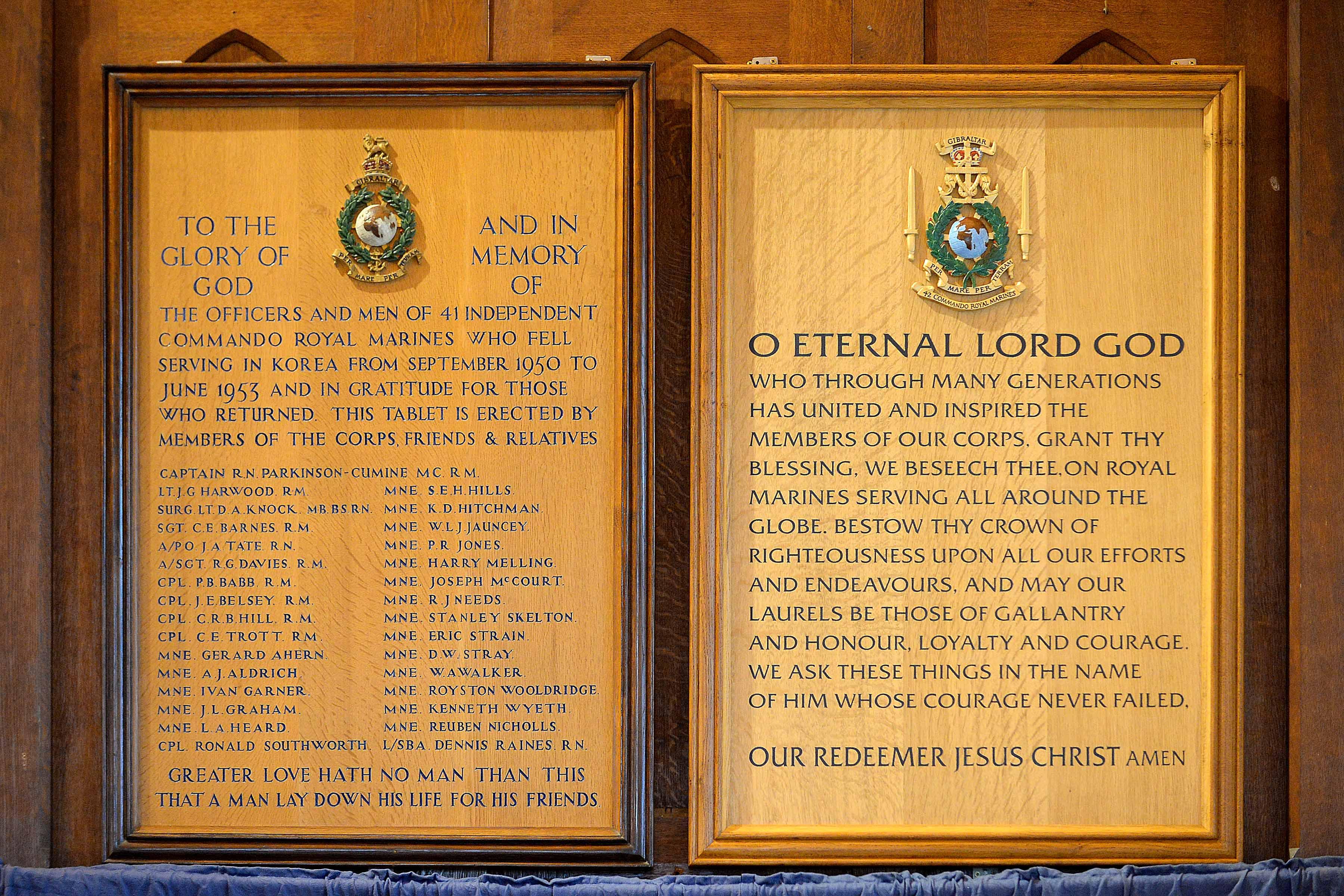 42 Commando Rededication of RM Chapel St.Mary's
